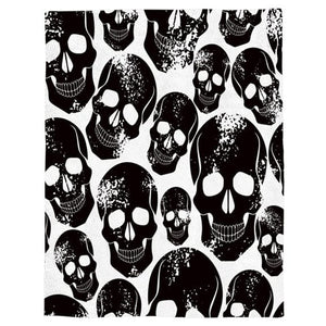 Black Skull Throw Warm Microfiber Blanket - Skull Clothing and Accessories Skull only Merchandise