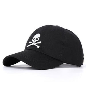 Skull 💀🧢 Print Baseball Snapback Adjustable Cotton Hat - Skull Clothing and Accessories Skull only Merchandise