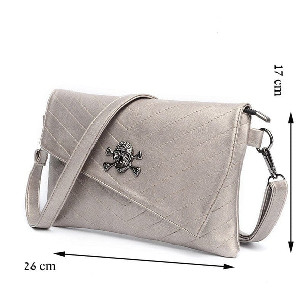 Skull Shoulder Envelop Cross Body Clutch Bag - Skull Clothing and Accessories Skull only Merchandise
