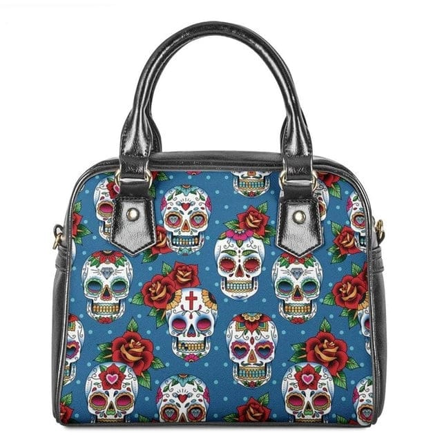 Skull Floral Casual Women Beautiful Shoulder Bag - Skull Clothing and Accessories Skull only Merchandise