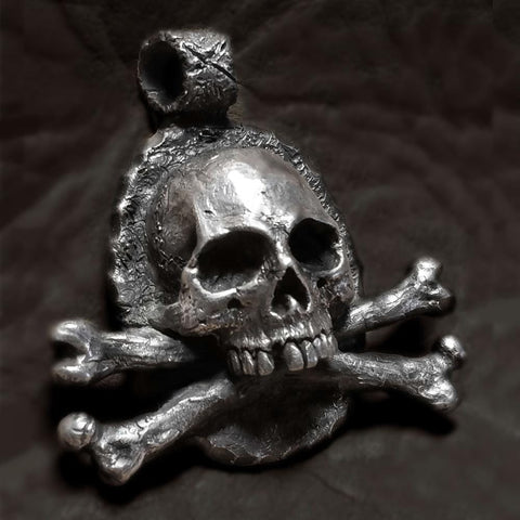 Gothic Stainless Steel Crossbones Pendant Vintage Skull Jewelry - Skull Clothing and Accessories Skull only Merchandise