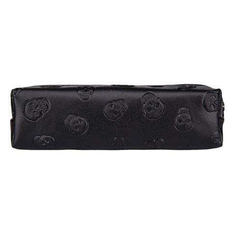 Skull Leather Makeup Bag Purse Organizer - Skull Clothing and Accessories Skull only Merchandise