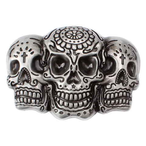 Vintage Western Belt Buckle 3D Skull Head Gothic Punk Belt Accessory - Skull Clothing and Accessories Skull only Merchandise
