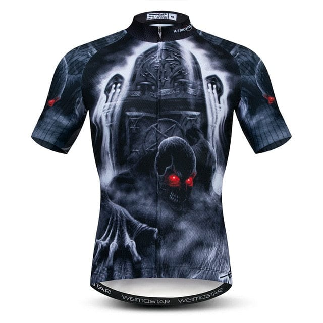Skull Cycling Jersey Breathable Quick Dry Shirt - Skull Clothing and Accessories Skull only Merchandise