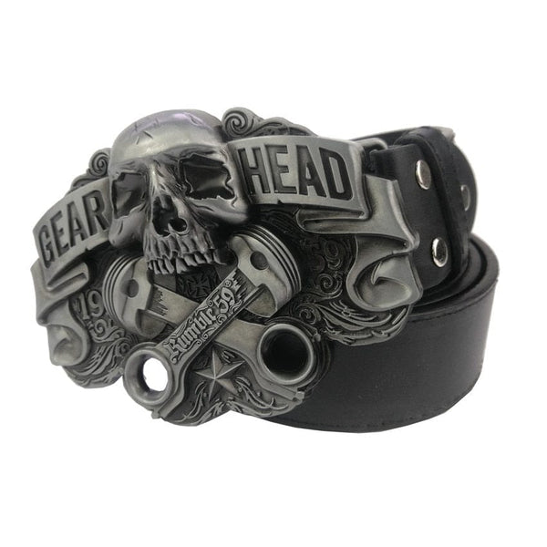 Metal Skull Silver Plating Belt Buckle for Men - Skull Clothing and Accessories Skull only Merchandise