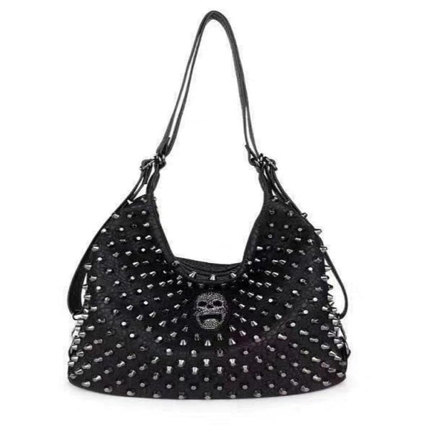Large Rivet Skull Handbag Shoulder Bag Cross Body Tote Purse - Skull Clothing and Accessories Skull only Merchandise