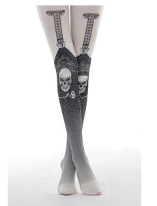 Skull Sling Print Pantyhose Cool Pattern - Skull Clothing and Accessories Skull only Merchandise