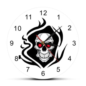 Vintage Evil Skull Head Modern Wall Clock Home Decoration - Skull Clothing and Accessories Skull only Merchandise