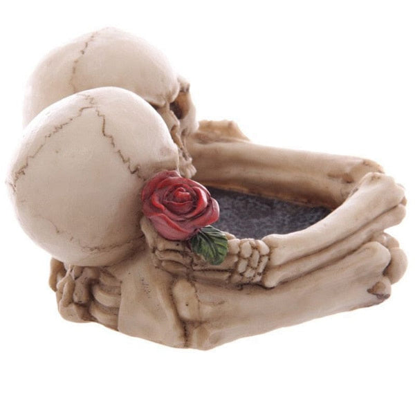 Skull Couple Hug Cigarette Creative Ashtray - Skull Clothing and Accessories Skull only Merchandise