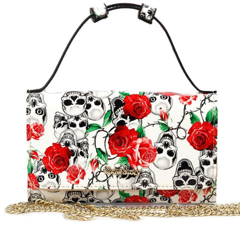Women's Skull Purse, Wallet Clutch, Handbag or Cross-body Bag - Skull Clothing and Accessories Skull only Merchandise