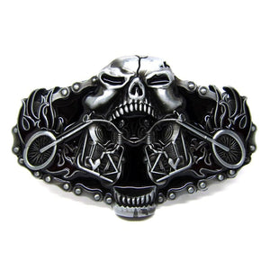 Skull Western Belt Buckles Suitable For 4 cm Width Belt - Skull Clothing and Accessories Skull only Merchandise