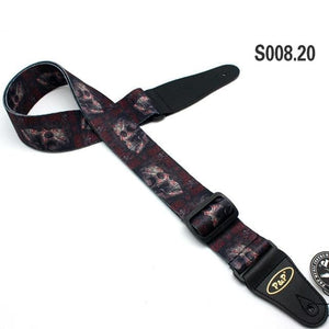 Skull Pattern Electric Guitar Strap - Skull Clothing and Accessories Skull only Merchandise