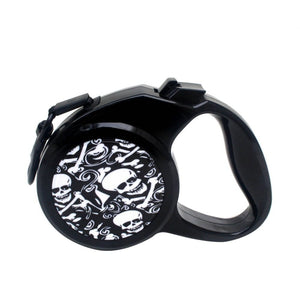 Retractable Leash 💀 🐶 Skull Pattern for Medium Large Dogs - Skull Clothing and Accessories Skull only Merchandise