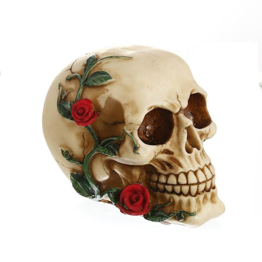 Resin Creative Skull Statue Sculpture Home Decoration Accessories Halloween Decoration