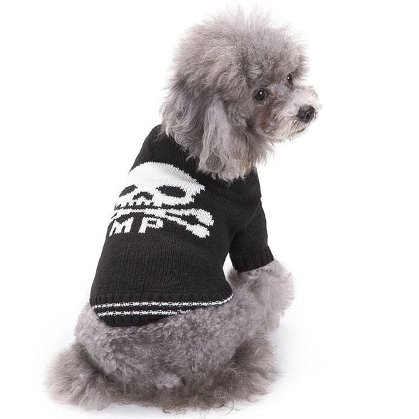 Warm Skull Dog Acrylic Knitted Small Pet Sweaters - Skull Clothing and Accessories Skull only Merchandise