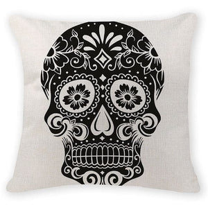 Dark Skull Head Decorative Pillow Case - Skull Clothing and Accessories Skull only Merchandise