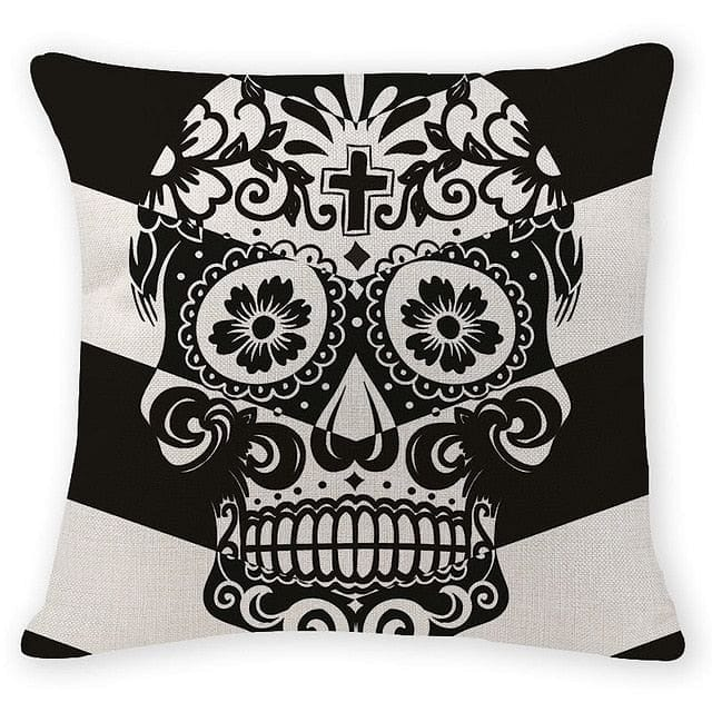 Decorative Skull Head Pillow Case - Skull Clothing and Accessories Skull only Merchandise