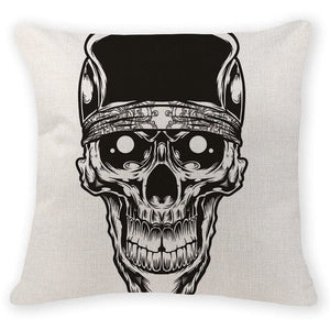Baseball Skull Head Decorative Pillow Case - Skull Clothing and Accessories Skull only Merchandise