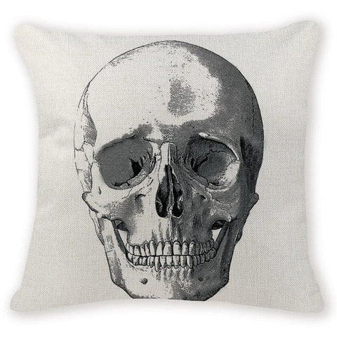 Skeleton Skull Head Decorative Pillow Case