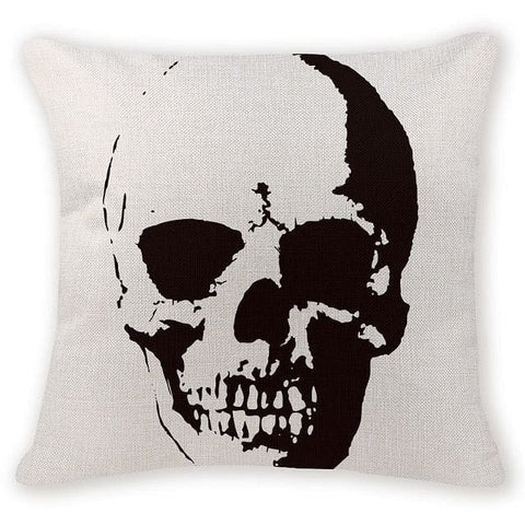 Mysterious Skull Head Decorative Pillow Case - Skull Clothing and Accessories Skull only Merchandise