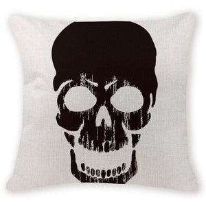 Creepy Skull Head Decorative Pillow Case - Skull Clothing and Accessories Skull only Merchandise