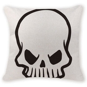 Outline of Skull Head Decorative Pillow Case - Skull Clothing and Accessories Skull only Merchandise
