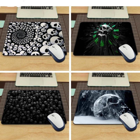 Skulls Vintage Stylish Mouse Pad aming Rectangle Mousepad 220mmX180mm and 250mmx290mm