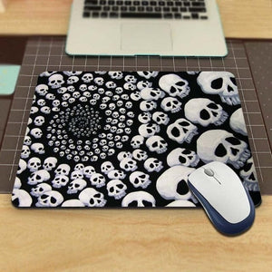 Skull Gaming Rectangle Mouse Pad - Skull Clothing and Accessories Skull only Merchandise