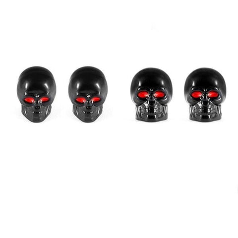Universal Skull Car Tire Wheel Valve Cap - Skull Clothing and Accessories Skull only Merchandise