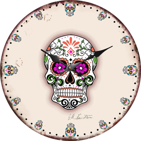 Skull Wall Clock Retro Design Hanging Vintage Silent Home Decoration - Skull Clothing and Accessories Skull only Merchandise