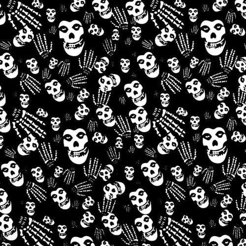 ☠ Skull Bandanna Square Scarf - Skull Clothing and Accessories Skull only Merchandise