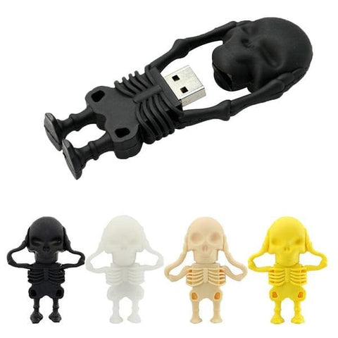 Skull 100% Real Capacity USB Flash Drives 8GB 16GB 32GB 64GB - Skull Clothing and Accessories Skull only Merchandise