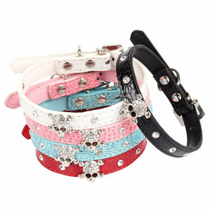 Skull Rhinestone Small 🐶💀🐱 Collars - Skull Clothing and Accessories Skull only Merchandise