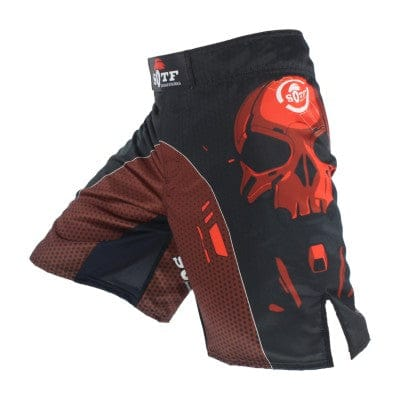Black Skull Mechanical MMA Fighting Breathable Sports Fitness Shorts - Skull Clothing and Accessories Skull only Merchandise