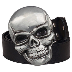 Big Skull 💀 Head Metal Belt and Buckle