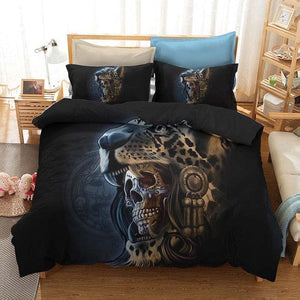 Skull Bedding Set Duvet Cover with Pillowcase - Skull Clothing and Accessories Skull only Merchandise