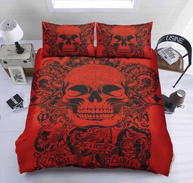 Skull Duvet Cover Sets With Pillowcases