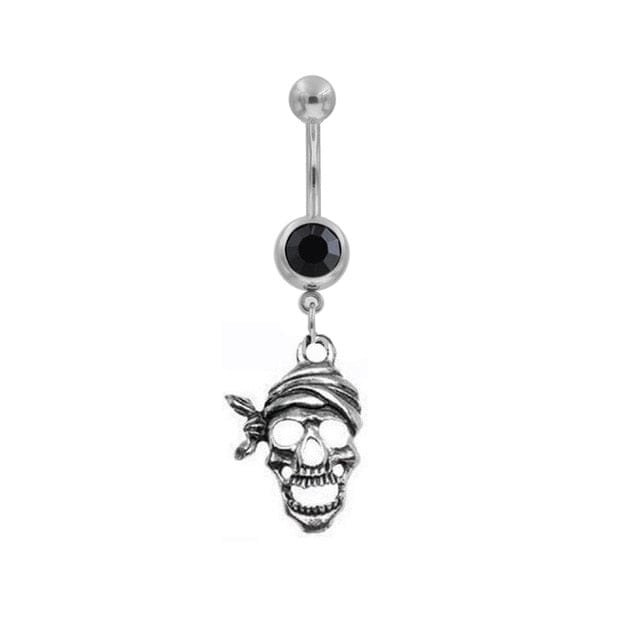 1Pc Body Piercing Jewelry Woman Navel Rings Skull - Skull Clothing and Accessories Skull only Merchandise