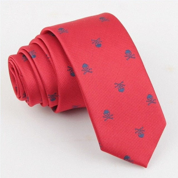 Men's Skull Tie 6 Colors - Skull Clothing and Accessories Skull only Merchandise