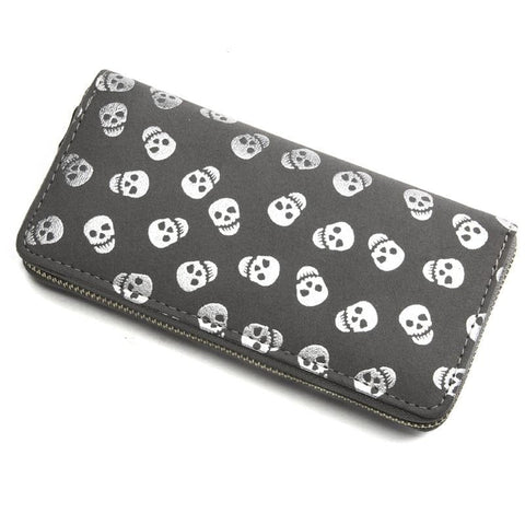 Skull Printed Large Capacity Clutch Bag Wallet - Skull Clothing and Accessories Skull only Merchandise