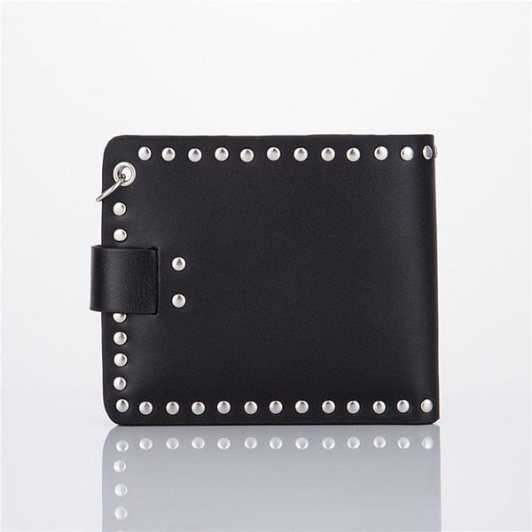 Punk Gothic Skull Men's Wallet With Chain - Skull Clothing and Accessories Skull only Merchandise