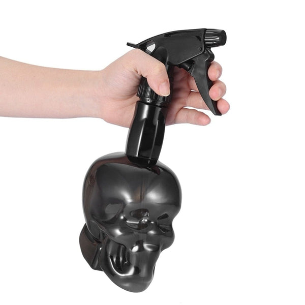 Skull Spray Bottle Refillable 500 ml Black Styling Tool - Skull Clothing and Accessories Skull only Merchandise