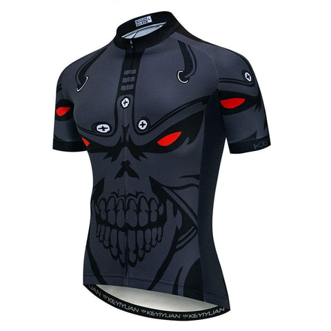 Skull Men's Breathable Quick Dry Cycling Jersey