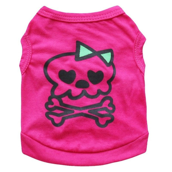Skull Breathable Cute Top For Your Small Dog or Cat