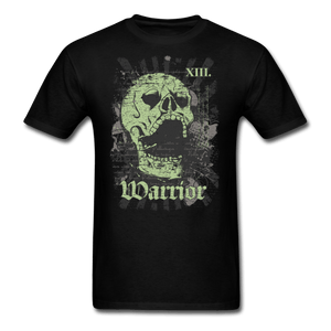 Skull with Rays T-Shirt - black