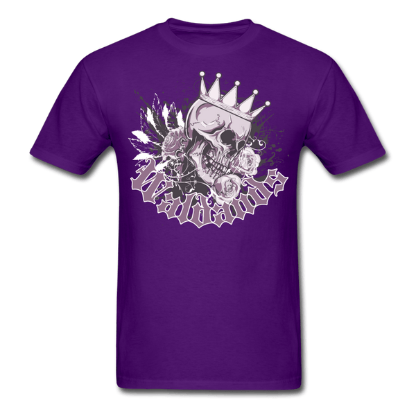 Skull and Roses T-Shirt - purple