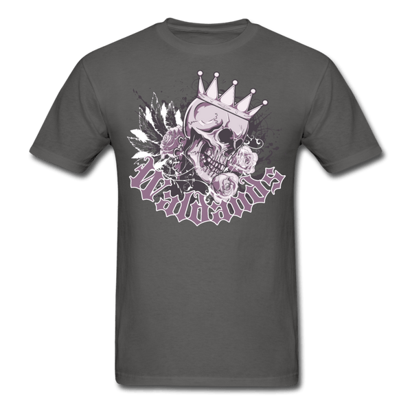 Skull and Roses T-Shirt - charcoal