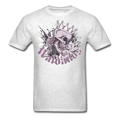Skull and Roses T-Shirt - light heather gray