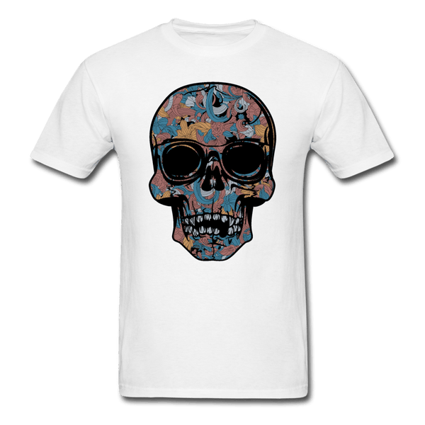 Colorful Single Skull T-Shirt - white