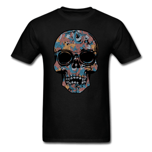 Colorful Single Skull T-Shirt - black